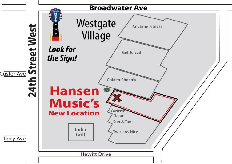 Hansen Music Billings Location